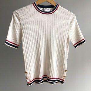 Thom Browne (bootleg?) White Ribbed Tee Shirt